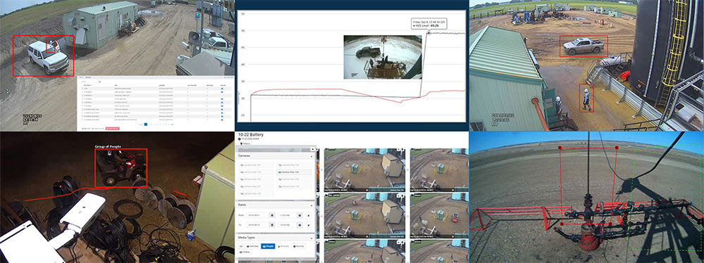 Remote visual inspections and monitoring of oil and gas facilities, pumpjacks, batteries and other critical infrastructure