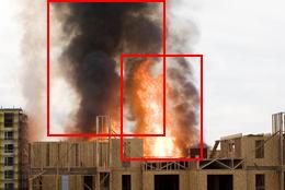 Construction fire & smoke